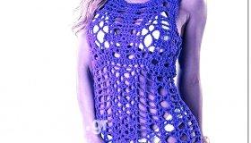μοντέρνα πλεκτα φορεματα για παραλια