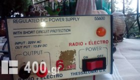 REGULATED DC POWER STPPKY 55600 ..WITH SHORT PROTECTION ...6 AMP.