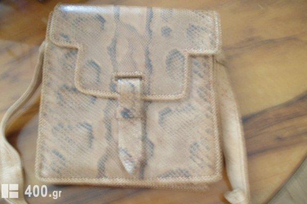 Τσάντα ολοκαίνουργια από φίδι γνήσια