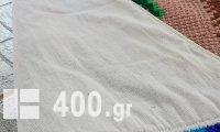 ΠΑΤΑΚΙ ΟΛΟΜΑΛΛΟ ΚΕΝΤΙΝΟ ΧΕΙΡΟΠΟΙΗΤΟ ΣΤΑΥΡΟΒΕΛΟΝΙΑ ΦΤΙΑΧΜΕΝΟ  ΣΤΟ ΧΕΡΙ ΚΑΙ ΜΕ ΒΑΜΒΑΚΕΡΗ ΕΠΕΝΔΥΣΗ ΑΠΌ ΚΑΤΩ ΜΕ ΣΧΕΔΙΟ ΥΦΑΝΣΗΣ ΛΟΥΛΟΥΔΙΑ 160cmX60cm (ΑΧΡΗΣΙΜΟΠΟΙΗΤΟ)