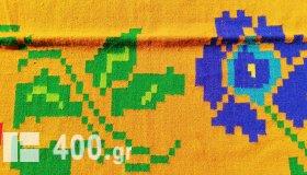 ΚΙΛΙΜΙ ΟΛΟΜΑΛΛΟ ΥΦΑΝΤΟ ΧΕΙΡΟΠΟΙΗΤΟ ΣΕ ΑΡΓΑΛΕΙΟ ΧΕΙΡΟΚΙΝΗΤΟ ΜΕ ΣΧΕΔΙΟ ΥΦΑΝΣΗΣ ΛΟΥΛΟΥΔΙΑ 380cmX220cm (ΑΧΡΗΣΙΜΟΠΟΙΗΤΟ)