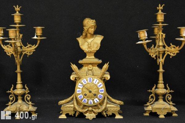 Ρολόι με παραστεκάμενα. 19ος αιώνας.