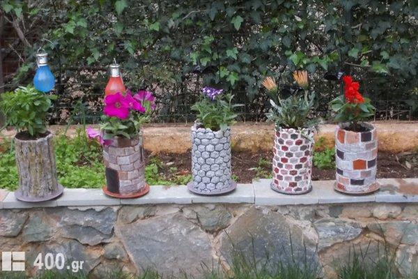 ΤΣΙΜΕΝΤΕΝΙΑ  ΓΛΑΣΤΡΑΚΙΑ για μικρά φυτά