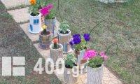 Γλαστράκια με φυσικά Λουλούδια